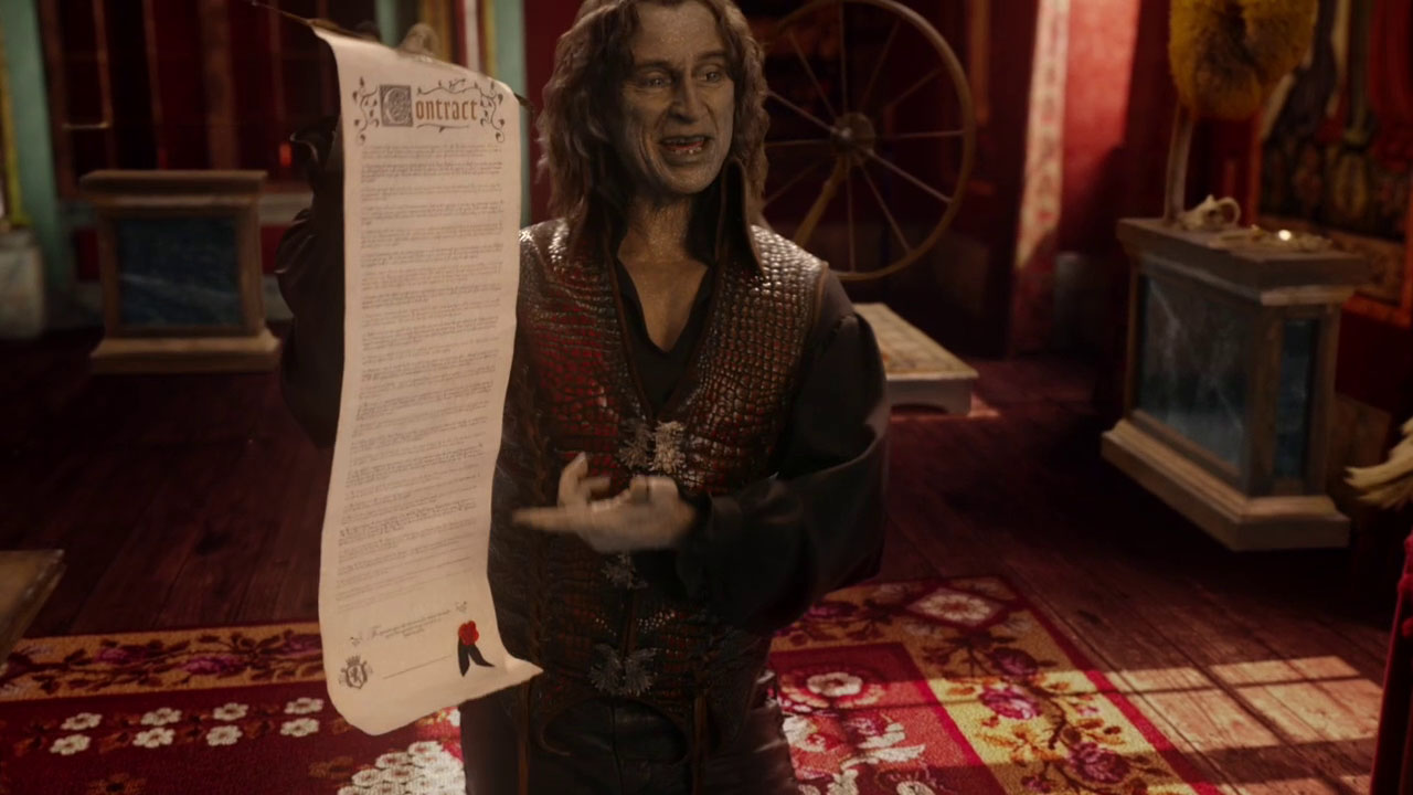 Once Upon a Time 2x04 The Apprentice Rumple with contract